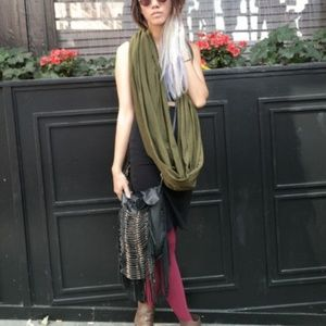 ISO American Apparel Dark Olive infinity scarf